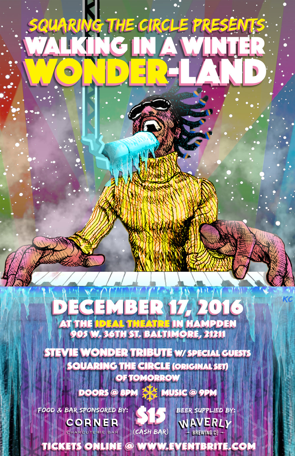 Walking in a Winter WONDERland - Squaring the Circle gig poster