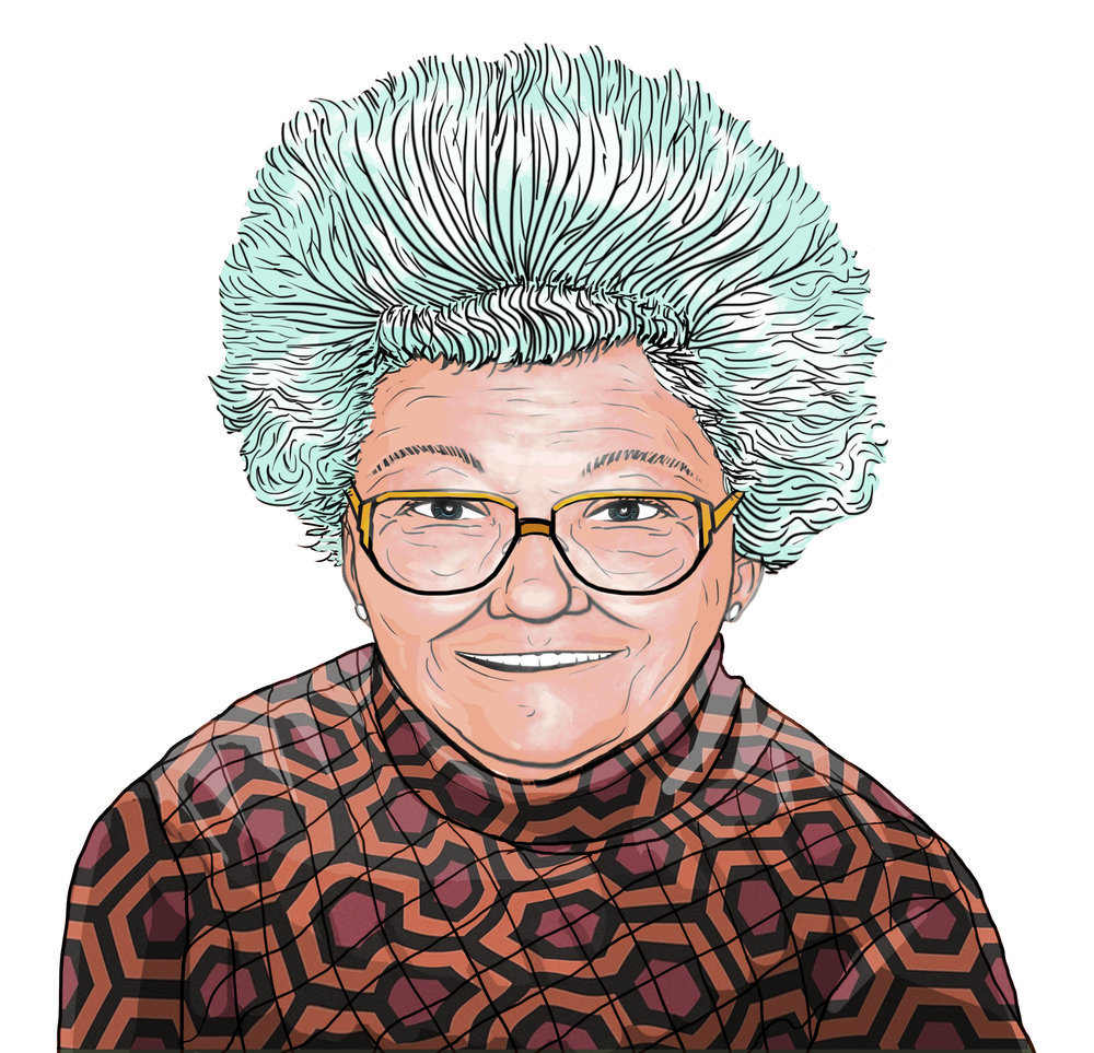 Portrait of my Grandma, Mimmy