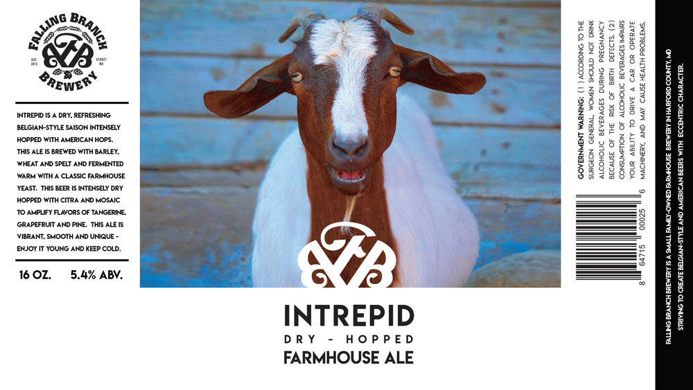 """Intrepid"" Label - Falling Branch Brewery"