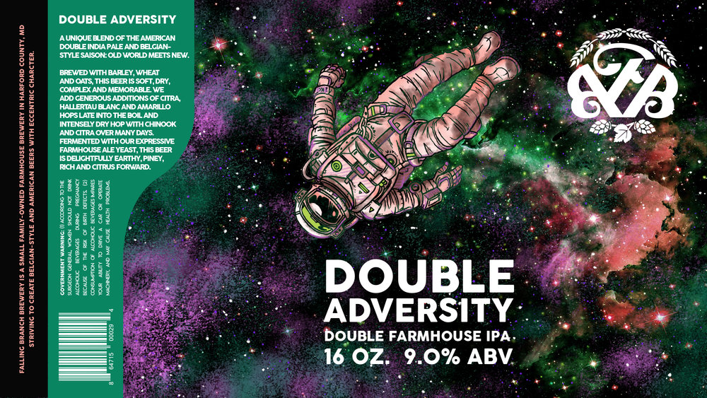 """""""Double Adversity"""" Label - Falling Branch Brewery"""
