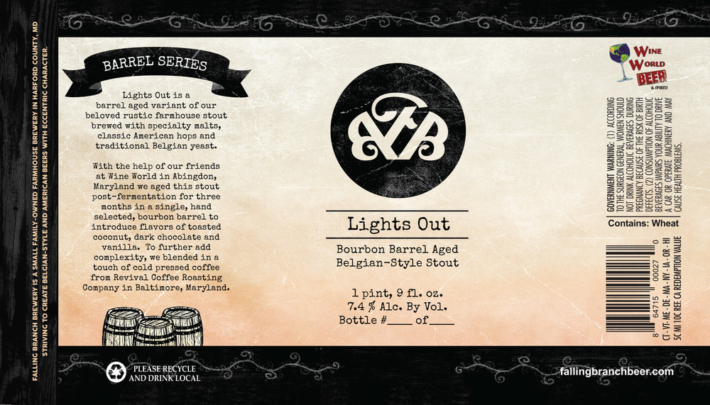 Lights Out - Label - Falling Branch Brewery