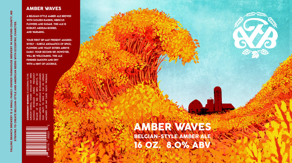 Amber Waves - Label - Falling Branch Brewery