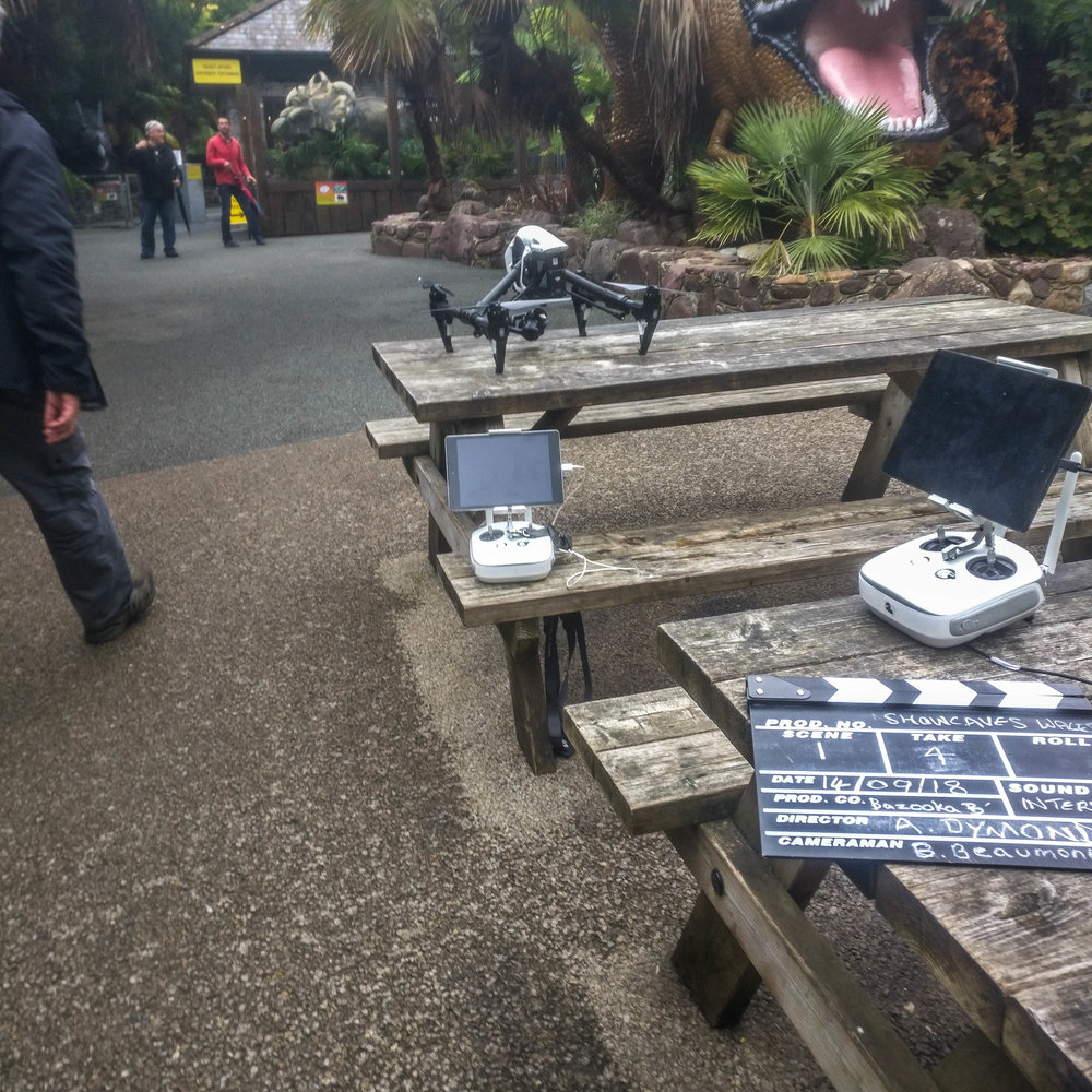 Dan yr Ogof The National Showcaves Centre for Wales - Filming complete for new TV advert for Dan yr Ogof caves, Swansea, South Wales.
