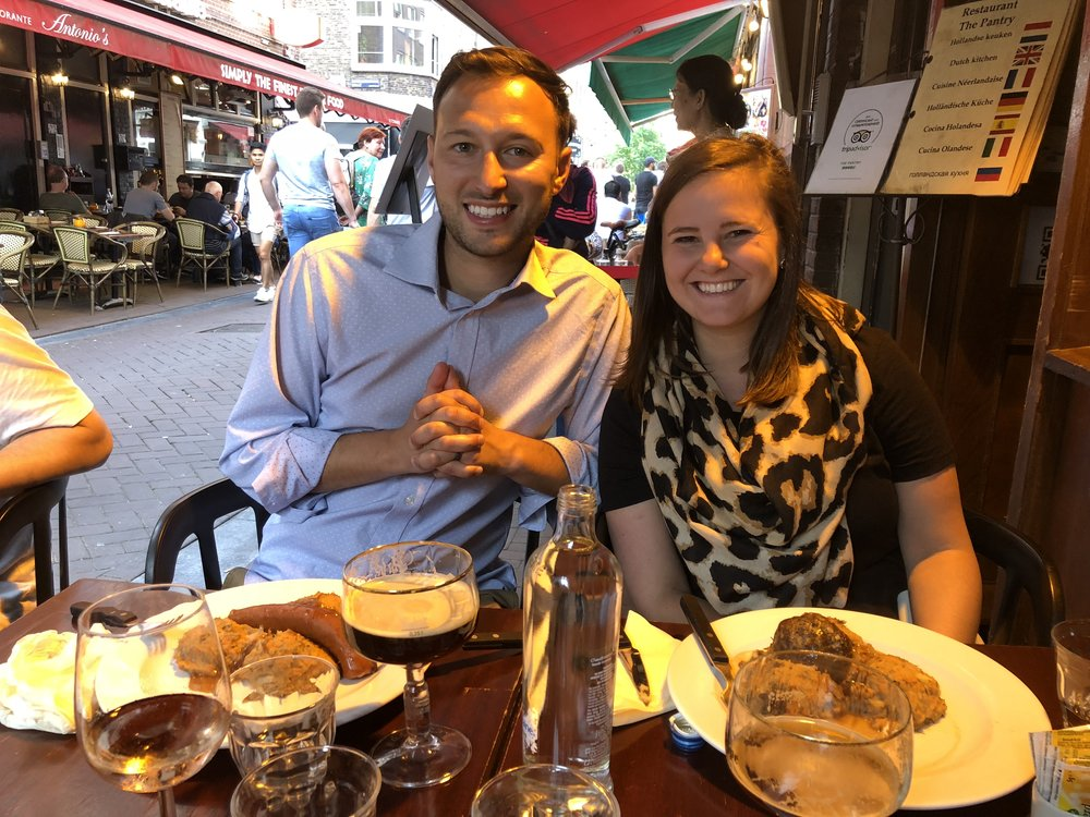 Graduate student Jessica Caporaso (right) was joined by husband Joe on this European adventure.