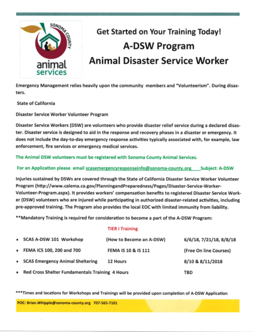 SCAS A-DSW 101 Workshop — Sonoma County Horse Council