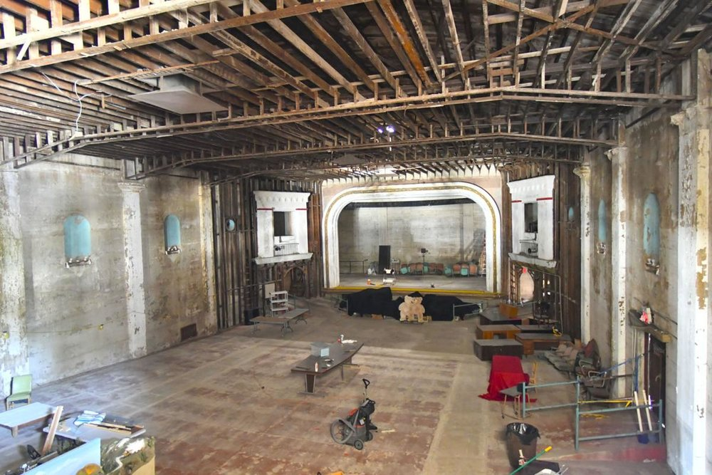 The gutted interior of the Lompoc Theatre after years of hardwork by the Lompoc Theatre Project. Now, construction can begin.  (Photo Credit: Len Wood, Lompoc Record)