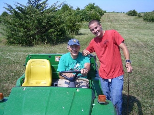 Dr. Henry Fitch (age 96 here!!) and Joey searching out snakes in eastern Kansas (2005)