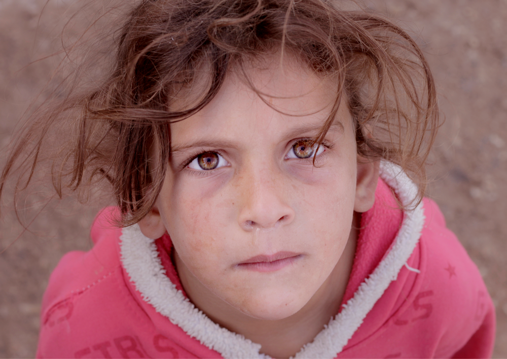 Syrian child refugee portrait