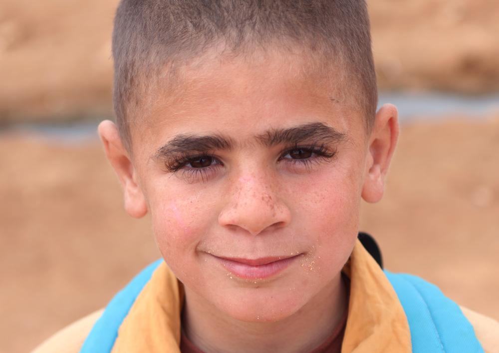 Syrian boy refugee eyes