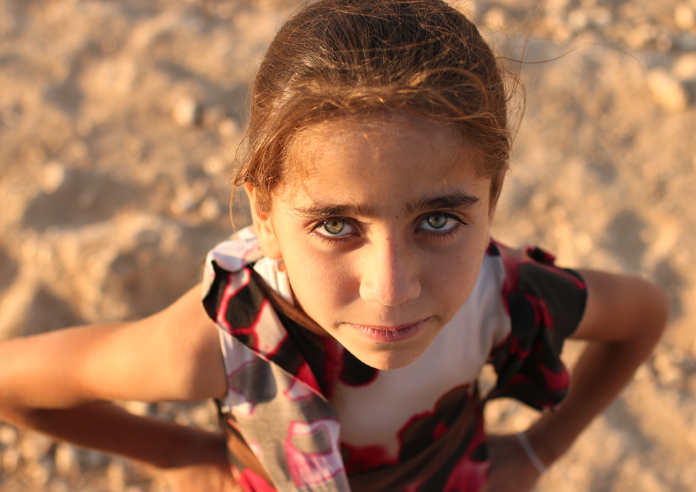 Syrian girl refugee portrait