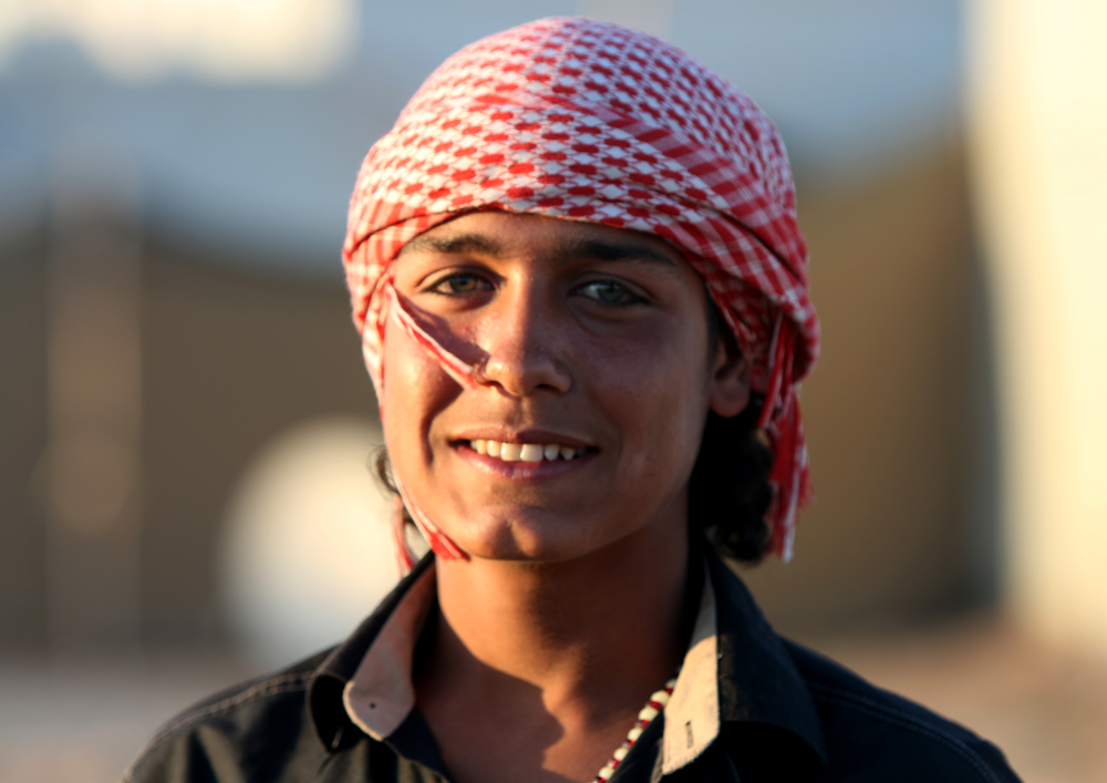 Syrian teenager refugee portrait