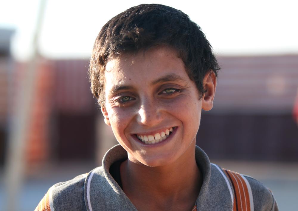 Syrian adolescent boy refugee