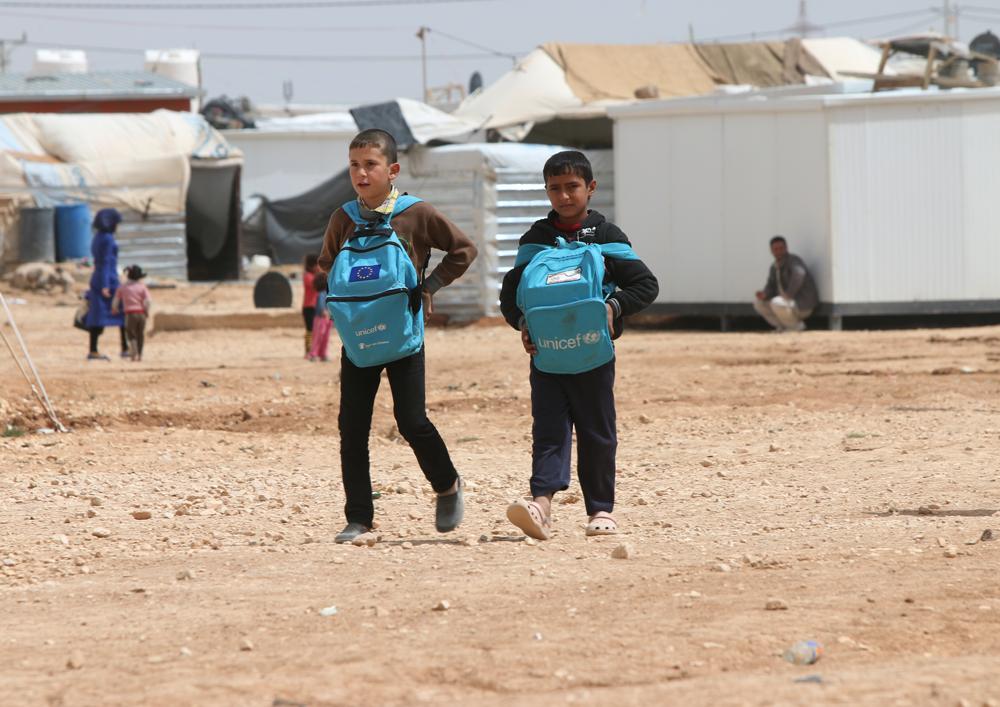 Syrian refugee schoolchildren
