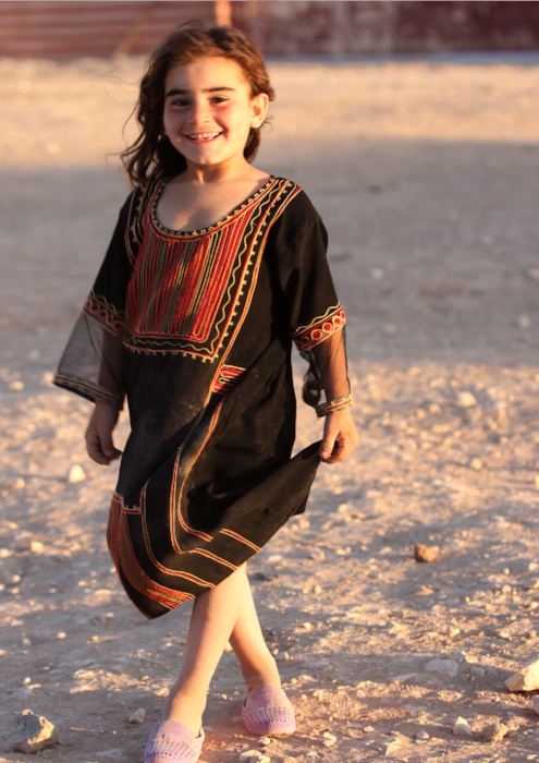 Syrian girl in dress