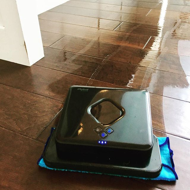 Gotta love robots that mop for you! #irobot #cleaningtechnology #fortecleaningtips