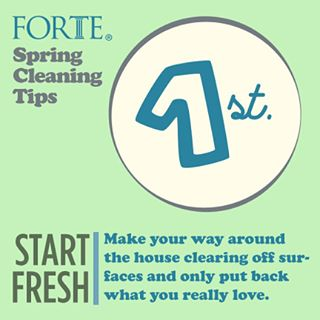 Spring cleaning is right around the corner! #fortecleaningtips