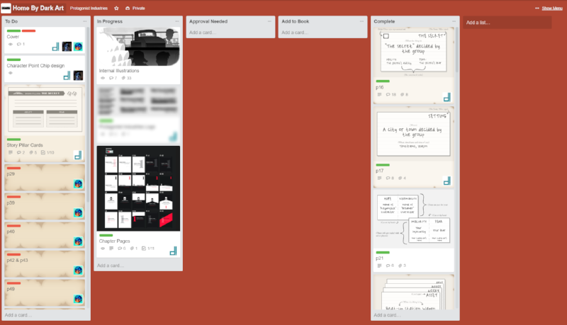 Trello is a great free tool to track tasks with other team members!