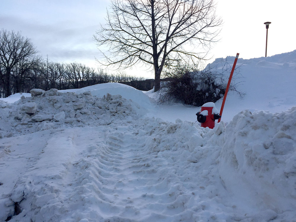 A Winnipeg fire hydrant after our Christmas storm.