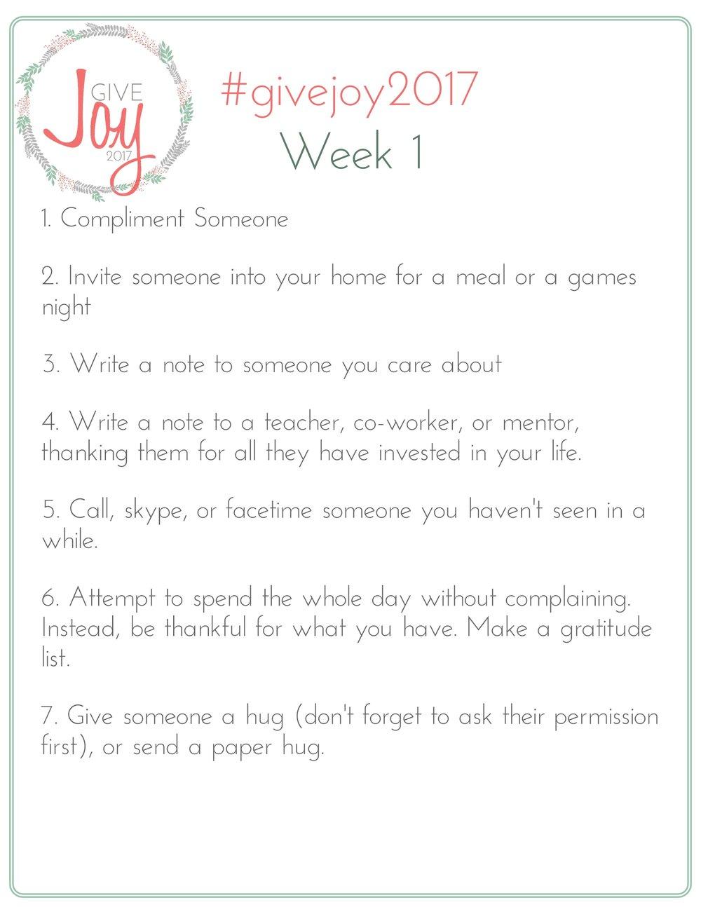 Give Joy 2017 Week 1 List of Challenges.jpeg