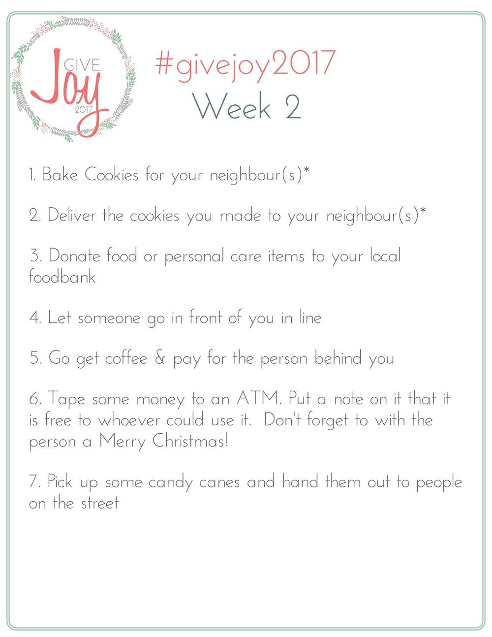 Give Joy 2017 Week 2 List of Challenges.jpeg