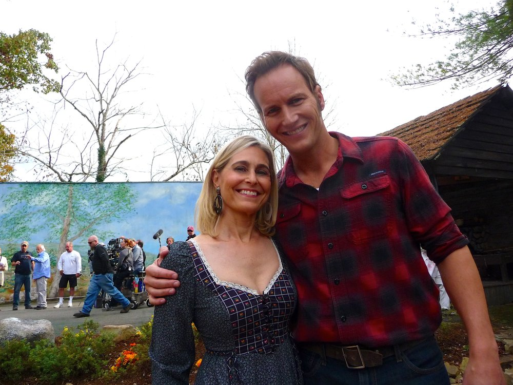 23-With Patrick Wilson on Big Stone Gap Movie Set.JPG