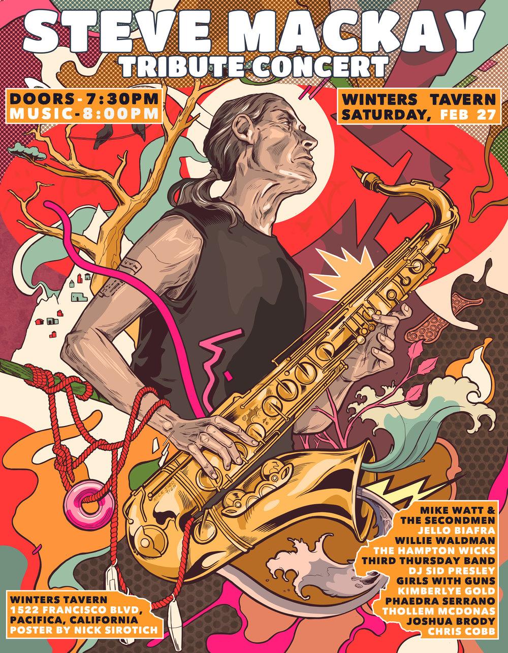 Steve Mackay Tribute Concert  , Winters Tavern, 2016