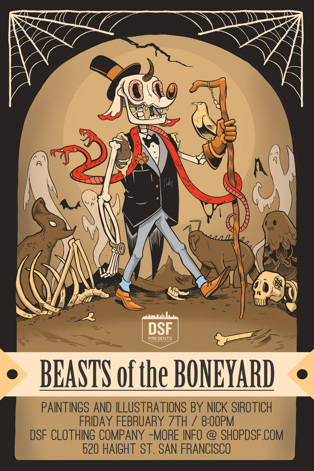 Beasts of the BoneYard  , Solo Gallery Show, DSF, 2014