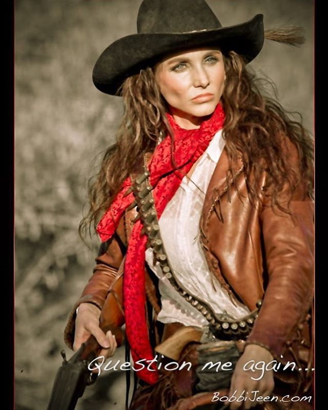 Question me again...lol ride tall and proud for what you believe in. @bobbi_jeen_olson photo by DVarius @westerntradingpost