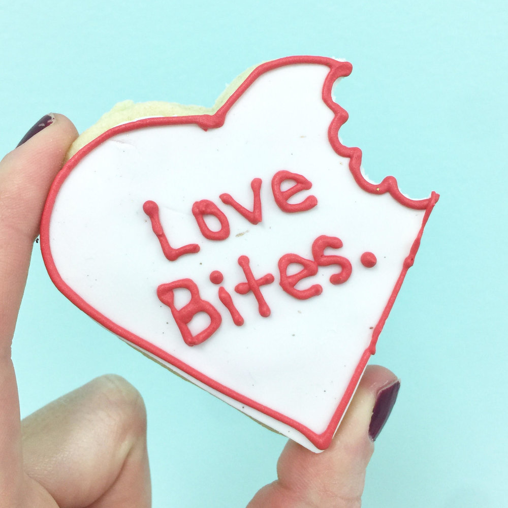 """Love Bites"" Cookie"