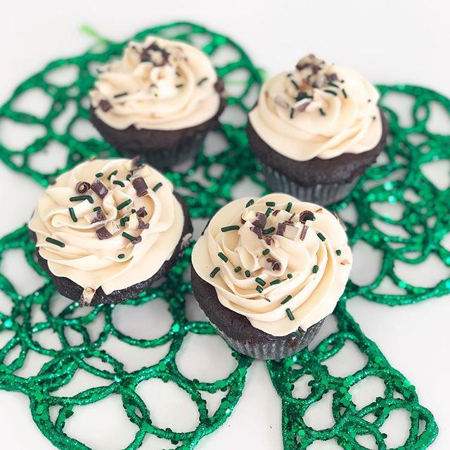 Feeling Irish this week? Good! ☘️ We have Guinness Irish Cream cupcakes all week!