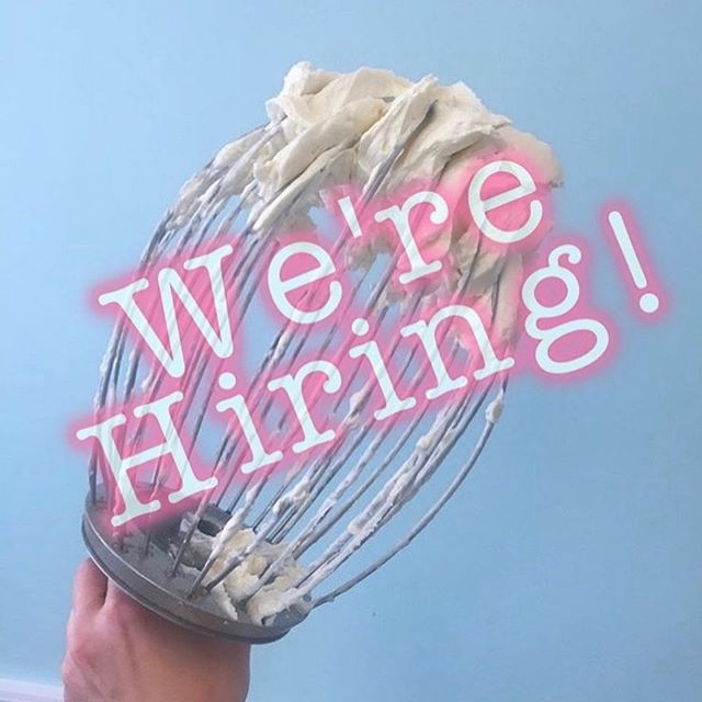 Guess what?!!! We have 2 new positions to  fill!! Come join our team! 👩🏼🍳 **details can be found at www.thehivecakestudio.com **