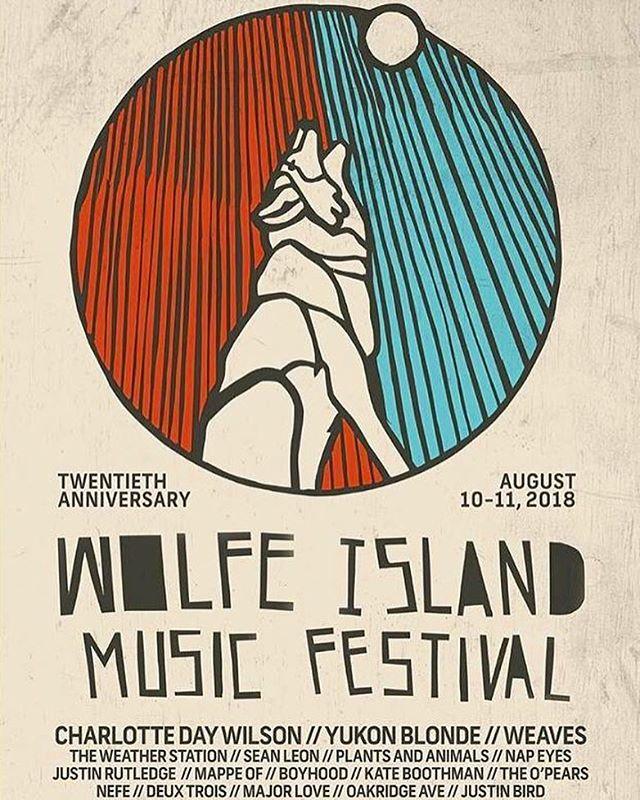 So honoured to be playing  @wolfeislandmusicfestival this summer! Whatta lineup! @charlottedaywilson @yukonblonde @weavesband @theweatherstation @plantandanimal @napeyes @justin_rutledge @mappeof @therealkateboothman @nefemusic @deuxtroismusic @majorlovemajorlove @juliafinnegan_  @oakridgeavemusic @michaelcduguay #bolu #seanleon #boyhood #justinbird