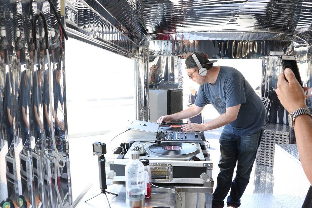Mobile DJ truck for podcasts