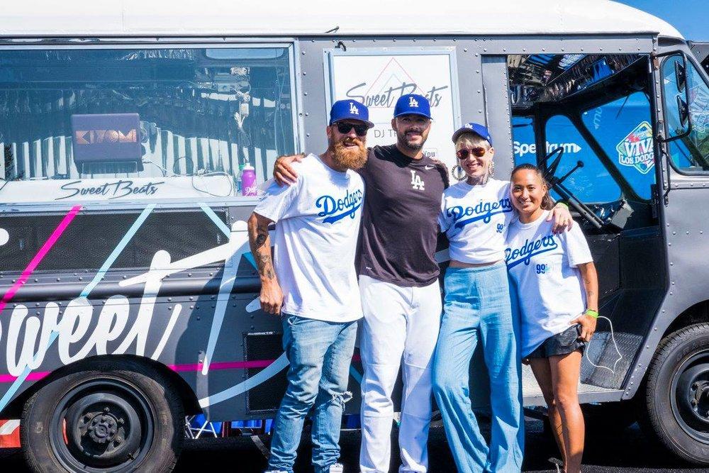 DJ services for Dodgers event