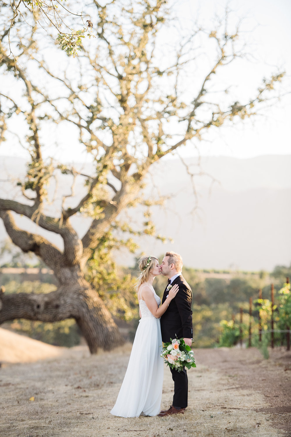 An amazing couple just married in the beautiful Santa Ynez Wine Country at Gainey Vineyards.