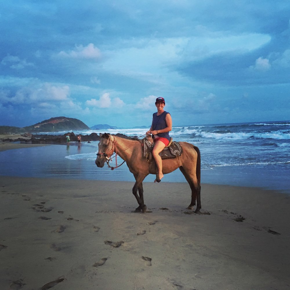 Thanks to Elyse Butler for capturing this image of me and my lil horsey on a sunset trot.