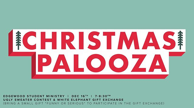 Make sure to make it to our Christmas Palooza! No ESM after until Jan. 6th. ☃️🎁🎅🏻🐘
