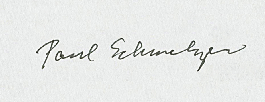 Paul Schmelzer, as signed by Yoko Ono
