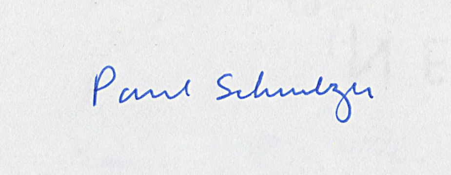 Paul Schmelzer, as signed by Paul Wellstone