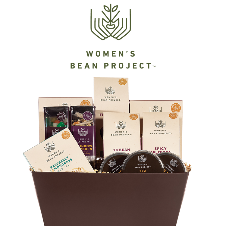women's bean project - Enjoy gifting gourmet goods that support chronically unemployed women who are working to rebuild their lives through transitional employment. This lovingly hand packaged collection of savory and sweet Women's Bean Project products have been curated by women who learn job readiness and life skills needed to gain career entry-level employment and become self-sufficient.www.WomensBeanProject.com