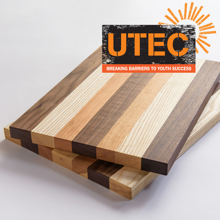 utec - UTEC's handmade cutting boards are created by young adults working to break down barriers to their success. Their young people transform East Coast hardwoods salvaged from scraps of ash, cherry, and walnut into stunning, durable cutting boards that are ideal for presentation and serving, as well as food preparation. Custom options avalible.www.UTECinc.org