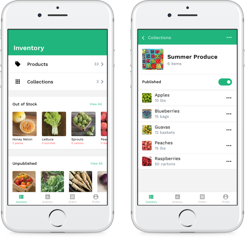 Inventory System - Inventory system for farmers market venders.