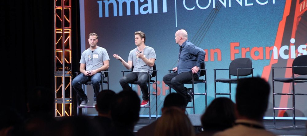 Inman Connect speech in San Francisco with over 5,000 leading real estate professionals in attendance from around the world. Seated with Brad Inman, founder of Inman News.