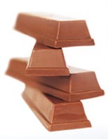 pile of chocolates to show as snacks