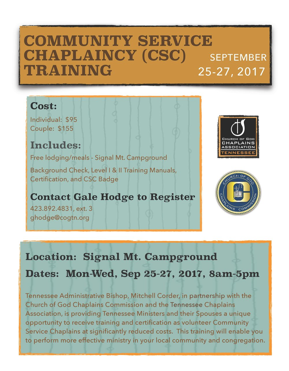 Chaplaincy Training Cogtn