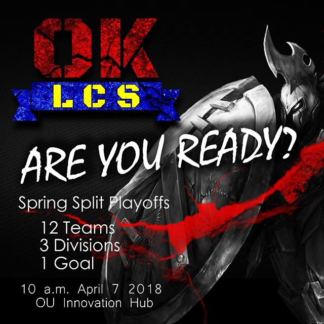 OKLCS Spring 2018 Playoffs coming up on April 7th! Thanks to the eSports Association at the University of Oklahoma and the Microsoft Store at Penn Square Mall for helping us make this event happen. See you all there and #GetRECt everyone!