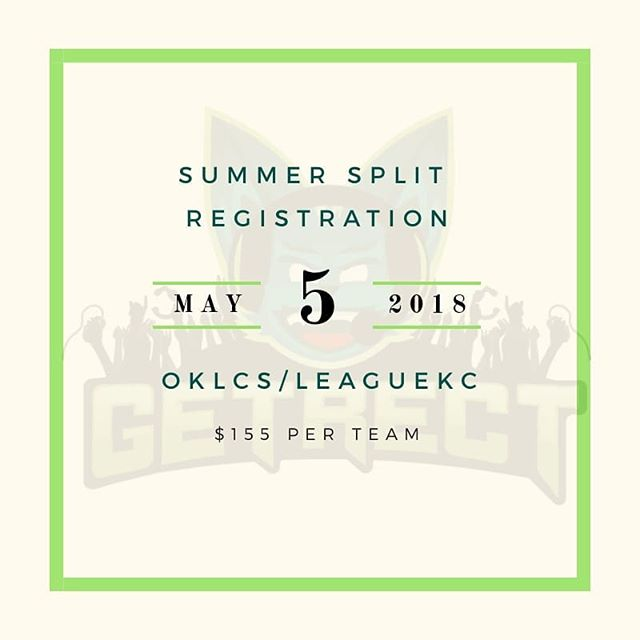 3 more days! Head to our website (link in bio) to register your League of Legends team by 11:59 p.m. CST on Saturday, May 5! #getrect #lol #leagueoflegends #leaguekc #oklcs #esports #midwest