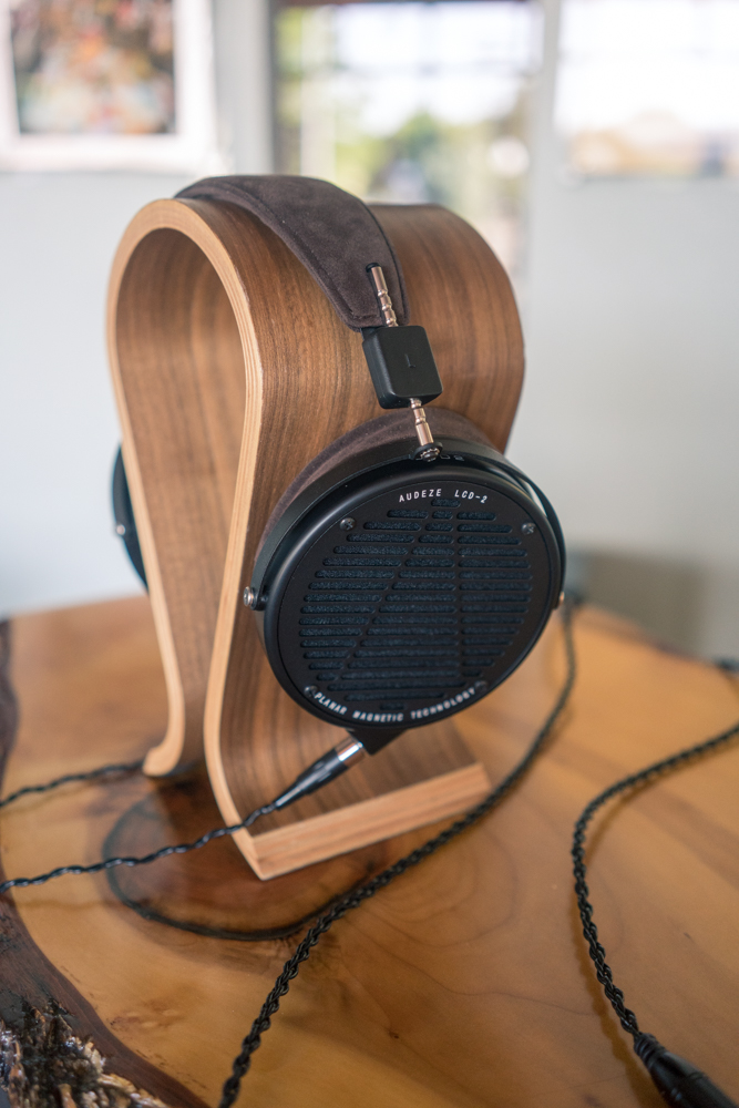 Audeze LCD - 2   Experience the amazingly open and low distortion sound of planar magnetic headphones! Store models come with both leather and microsuede earpads. Metal shown, other finishes available.   Was $999.00, on sale, see store for details!