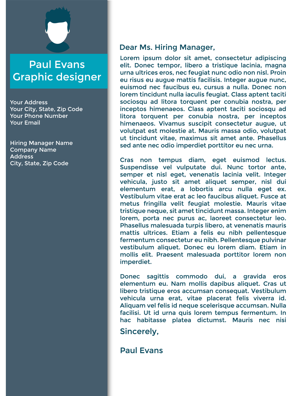 Cover Letter Template 2