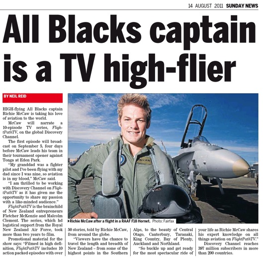 New Zealand and Australia fans have the added benefit of All Blacks Richie McCaw